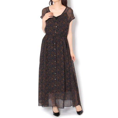【ガリャルダガランテ/GALLARDAGALANTE】のヴィンテージフラワーワンピース インテリア・キッズ・メンズ・レディースファッション・服の通販 founy(ファニー)  ファッション Fashion レディースファッション WOMEN ワンピース Dress おすすめ Recommend デニム フラワー ペチコート ヴィンテージ ブラウン ID: prp329100000498395 ipo3291000000001536426