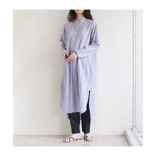【ガリャルダガランテ/GALLARDAGALANTE】のコットンシルクストライプワンピース インテリア・キッズ・メンズ・レディースファッション・服の通販 founy(ファニー)  ファッション Fashion レディースファッション WOMEN ワンピース Dress おすすめ Recommend シルク ストライプ スリット サックスブルー ID: prp329100000502894 ipo3291000000001553500