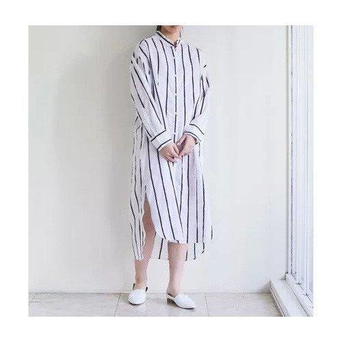 【ガリャルダガランテ/GALLARDAGALANTE】のコットンシルクストライプワンピース インテリア・キッズ・メンズ・レディースファッション・服の通販 founy(ファニー)  ファッション Fashion レディースファッション WOMEN ワンピース Dress おすすめ Recommend シルク ストライプ スリット ホワイト ID: prp329100000502894 ipo3291000000001553504