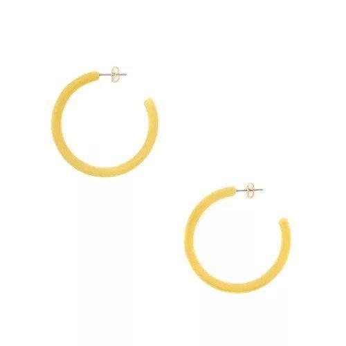 【ガリャルダガランテ/GALLARDAGALANTE】のマットレジンフープピアス インテリア・キッズ・メンズ・レディースファッション・服の通販 founy(ファニー)  ファッション Fashion レディースファッション WOMEN ジュエリー Jewelry リング Rings イヤリング Earrings アクセサリー イヤリング フォルム フープ リゾート イエロー|ID: prp329100000506142 ipo3291000000001564856