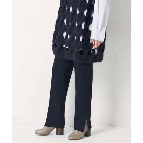 【ガリャルダガランテ/GALLARDAGALANTE】の【CEPIE.】ミラノリブベンツニットパンツ インテリア・キッズ・メンズ・レディースファッション・服の通販 founy(ファニー)  ファッション Fashion レディースファッション WOMEN パンツ Pants インナー カットソー シンプル ストレート スリット センター トレンド フィット ミラノリブ ブラック|ID: prp329100000511368 ipo3291000000001583502