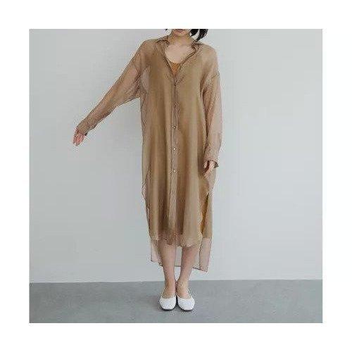 【ガリャルダガランテ/GALLARDAGALANTE】の【HERITANOVUM】オーガンジーシャツワンピース レディースファッション・服の通販 founy(ファニー) ファッション Fashion レディースファッション WOMEN ワンピース Dress シャツワンピース Shirt Dresses エアリー キャミソール シアー スタンダード 今季 羽織  other-1|ID: prp329100000512732 ipo3291000000001588263