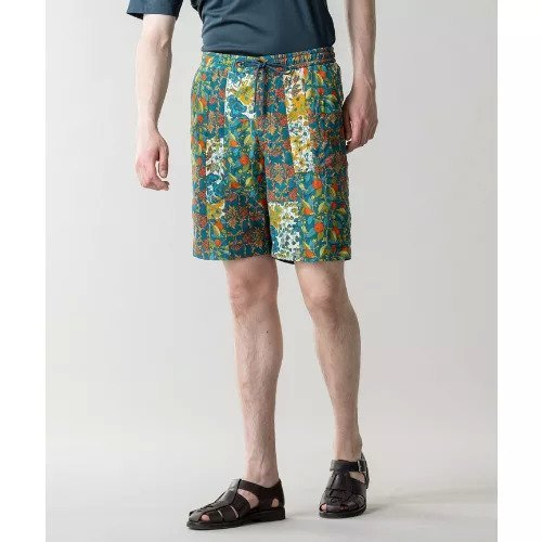 【ジョゼフ オム/JOSEPH HOMME / MEN】のパッチワークリバティ / BERMUDA インテリア・キッズ・メンズ・レディースファッション・服の通販 founy(ファニー) https://founy.com/ ファッション Fashion メンズファッション MEN ボトムス Bottoms/Men おすすめ Recommend シルク シンプル ドレープ ハーフ バランス パターン パッチワーク メンズ リゾート 人気 羽織  ID: prp329100001734733 ipo3291000000009120366