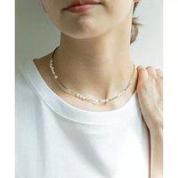 【ガリャルダガランテ/GALLARDAGALANTE】のパールミックスビーズネックレス 人気、トレンドファッション・服の通販 founy(ファニー) ファッション Fashion レディースファッション WOMEN ジュエリー Jewelry リング Rings ネックレス Necklaces おすすめ Recommend アクセサリー カットソー ショート ネックレス バロック パール |ID:prp329100001887407