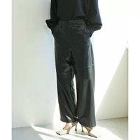 【ガリャルダガランテ/GALLARDAGALANTE】のリサイクルレザーパンツ 人気、トレンドファッション・服の通販 founy(ファニー) ファッション Fashion レディースファッション WOMEN パンツ Pants くるぶし サンダル ストレート フラット リアル ワイド  ID:prp329100001887485