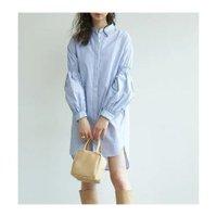 【ガリャルダガランテ/GALLARDAGALANTE】のオックスパフスリーブシャツワンピース 人気、トレンドファッション・服の通販 founy(ファニー) ファッション Fashion レディースファッション WOMEN ワンピース Dress シャツワンピース Shirt Dresses インナー ギャザー シャーリング ショート シンプル ストライプ スラックス スリーブ ヨーク ロング おすすめ Recommend |ID:prp329100002074714