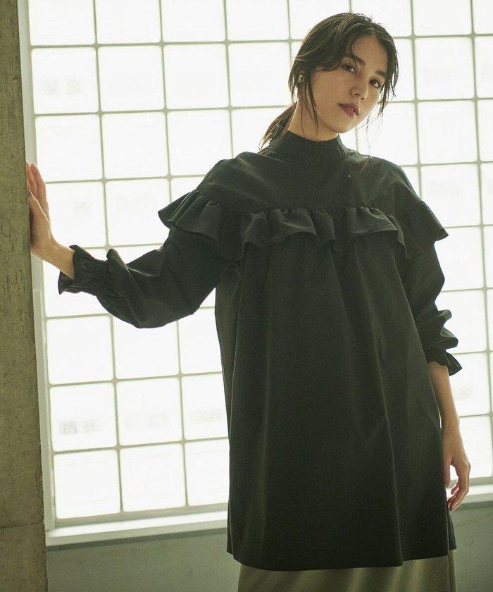 【ハッシュニュアンス/#Newans】の【共につくるproject】LILY/ アラウンドフリルチュニック(番号NE85) インテリア・キッズ・メンズ・レディースファッション・服の通販 founy(ファニー) https://founy.com/ ファッション Fashion レディースファッション WOMEN トップス・カットソー Tops/Tshirt シャツ/ブラウス Shirts/Blouses キュプラ クラシカル スペシャル タイプライター チュニック トレンド ハイネック フリル フレア ポケット ロング A/W・秋冬 AW・Autumn/Winter・FW・Fall-Winter 2021年 2021 2021-2022秋冬・A/W AW・Autumn/Winter・FW・Fall-Winter・2021-2022 送料無料 Free Shipping |ID: prp329100001786017 ipo3291000000011600486
