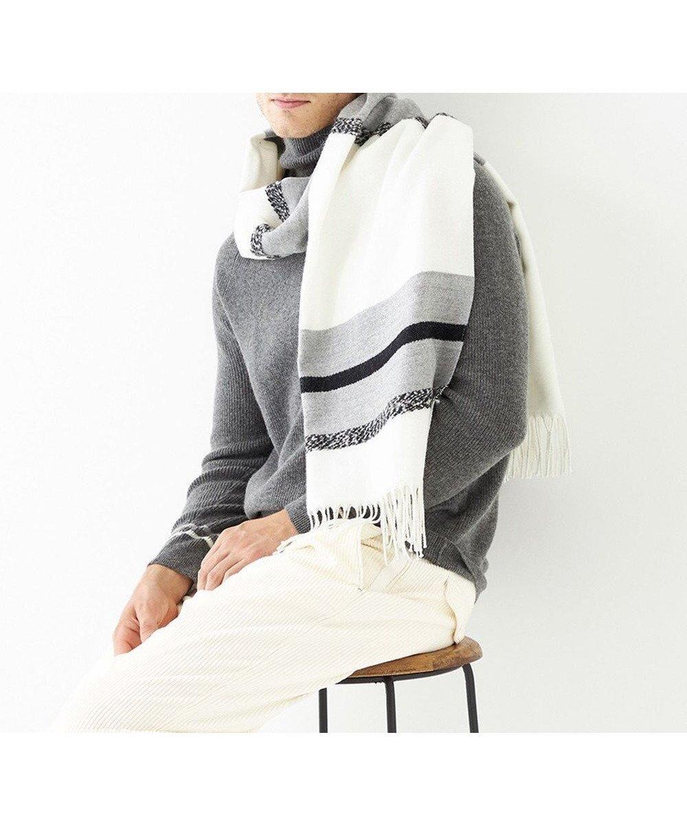【ジョセフ アブード/JOSEPH ABBOUD】の【SPACE/UNISEX】ビッグボーダー ストール インテリア・キッズ・メンズ・レディースファッション・服の通販 founy(ファニー)  ファッション Fashion レディースファッション WOMEN 送料無料 Free Shipping UNISEX おすすめ Recommend ショール シンプル ストール ビッグ フランス ボーダー マフラー ホワイト系2 (201)|ID: prp329100001980573 ipo3291000000011844952
