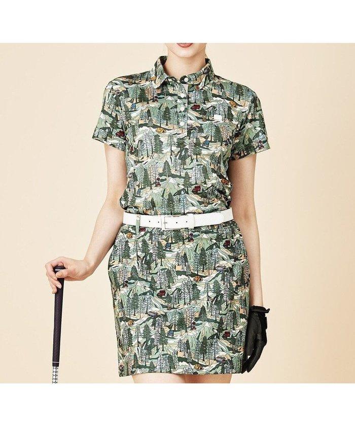 【23区 ゴルフ/NIJYUSANKU GOLF】の【WOMEN】キャンピングカモプリントカノコシャツ インテリア・キッズ・メンズ・レディースファッション・服の通販 founy(ファニー) https://founy.com/ ファッション Fashion レディースファッション WOMEN トップス・カットソー Tops/Tshirt シャツ/ブラウス Shirts/Blouses ロング / Tシャツ T-Shirts カットソー Cut and Sewn 送料無料 Free Shipping カットソー セットアップ フラット プリント 切替 半袖 吸水 鹿の子 |ID: prp329100001988522 ipo3291000000011928127