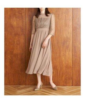 【イェッカ ヴェッカ/YECCA VECCA】のレース切替スタンドネックドレス 人気、トレンドファッション・服の通販 founy(ファニー) ファッション Fashion レディースファッション WOMEN ワンピース Dress ドレス Party Dresses 送料無料 Free Shipping シアー スタンド ドレス レース 切替  ID:prp329100001993074