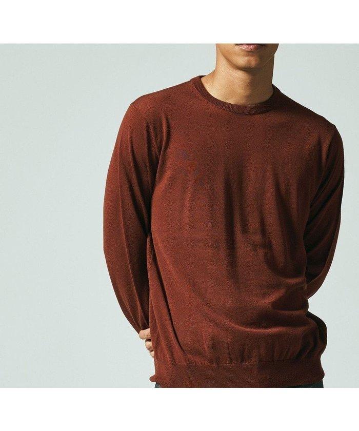 【ジェイ プレス/J.PRESS / MEN】の【Australian Merino Wool】クルーネックニット インテリア・キッズ・メンズ・レディースファッション・服の通販 founy(ファニー) https://founy.com/ ファッション Fashion メンズファッション MEN トップス・カットソー Tops/Tshirt/Men ニット Knit Tops 送料無料 Free Shipping イタリア カシミヤ シルク ジャケット セーター 防寒 |ID: prp329100001995362 ipo3291000000011998510
