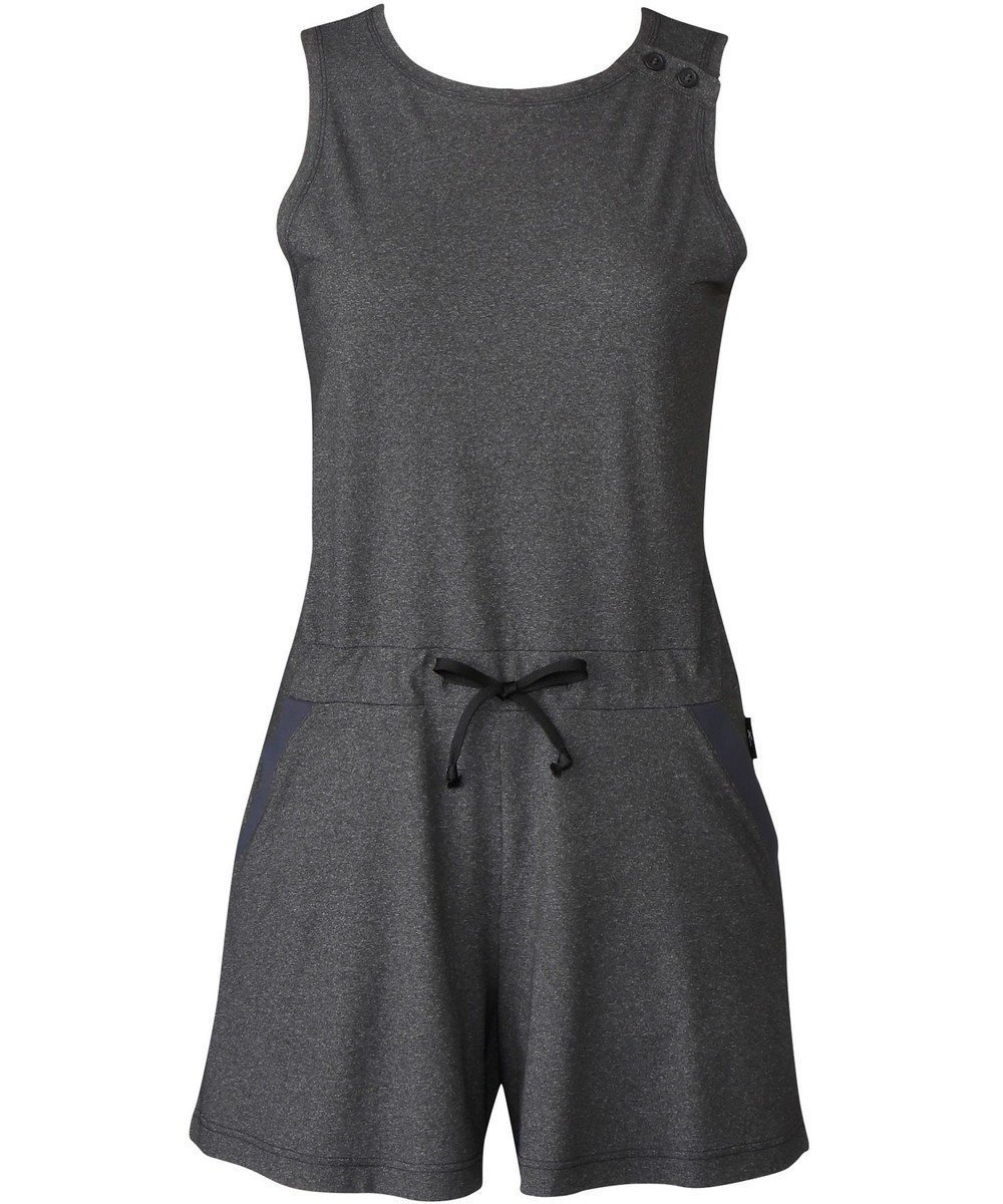 【シーダブリューエックス/CW-X】の【WOMEN】アウター オールインワン ノースリーブ /ワコール DFY591 インテリア・キッズ・メンズ・レディースファッション・服の通販 founy(ファニー)  ファッション Fashion レディースファッション WOMEN アウター Coat Outerwear トップス・カットソー Tops/Tshirt キャミソール / ノースリーブ No Sleeves ワンピース Dress オールインワン ワンピース All In One Dress 送料無料 Free Shipping ストレッチ スリット トレンド ノースリーブ ポケット グレー (GY) ID: prp329100001996723 ipo3291000000012104577