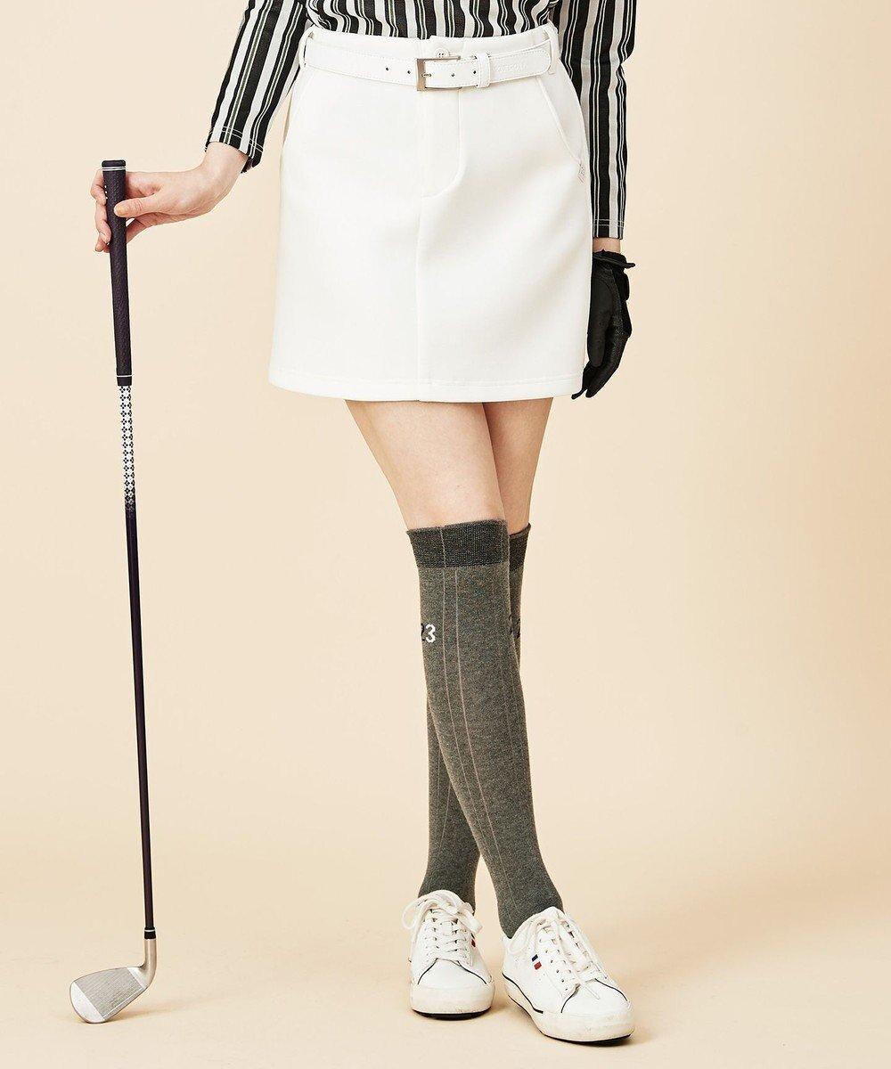 【23区 ゴルフ/NIJYUSANKU GOLF】の【WOMEN】ソフトダンボールニット スカート インテリア・キッズ・メンズ・レディースファッション・服の通販 founy(ファニー)  ファッション Fashion レディースファッション WOMEN スカート Skirt 送料無料 Free Shipping ストレッチ フィット ポケット 台形 軽量 ホワイト系 (001) ID: prp329100002054193 ipo3291000000012589403