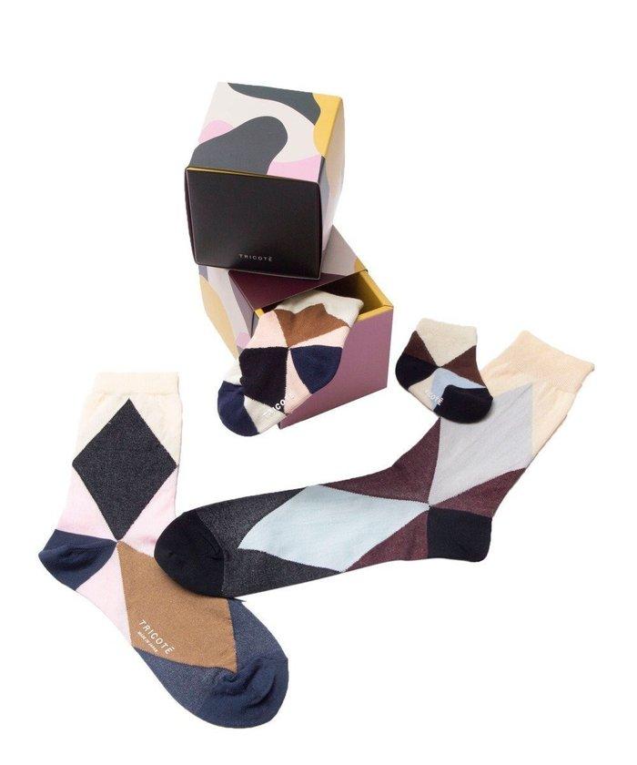 【トリコテ/Tricote】のARGYLE SOCKS FAMILIY SET インテリア・キッズ・メンズ・レディースファッション・服の通販 founy(ファニー) https://founy.com/ ファッション Fashion レディースファッション WOMEN セットアップ Setup ソックス Socks レッグウェア Legwear ソックス ベビー |ID: prp329100002076370 ipo3291000000012769258